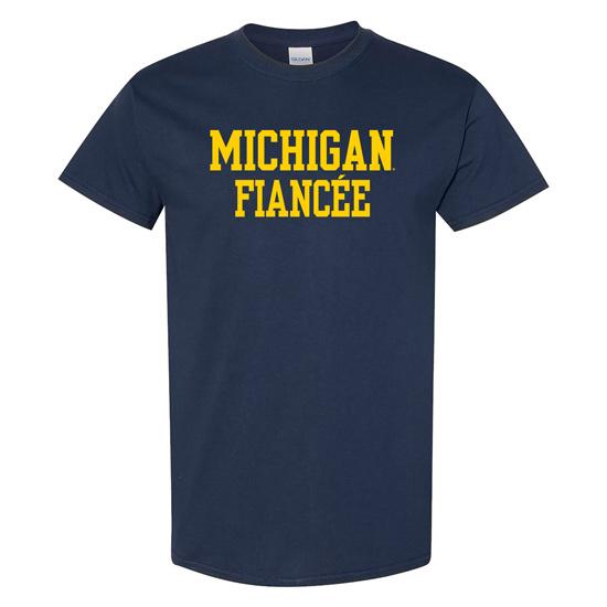 University of Michigan Fiancée Navy Tee
