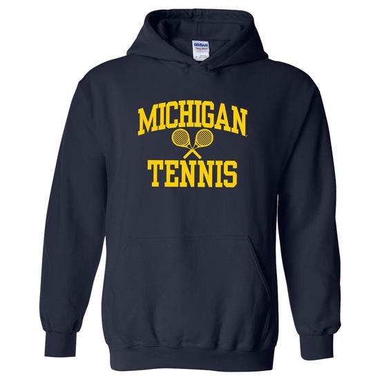 University of Michigan Tennis Navy Hooded Sweatshirt