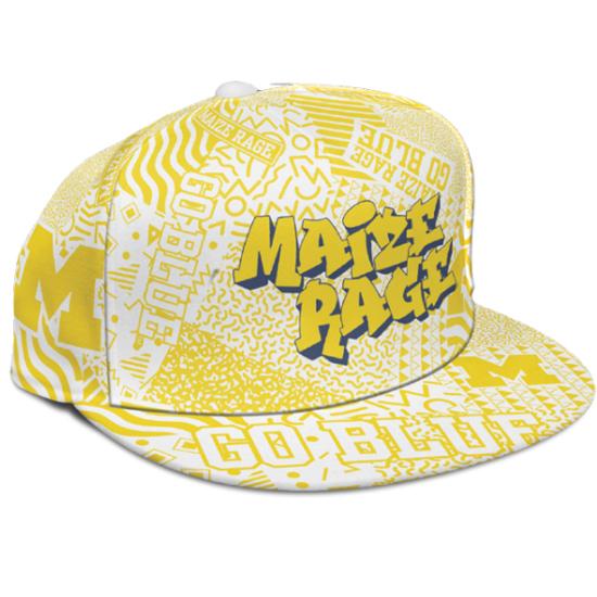 University of Michigan Basketball Maize Rage ''90's Night'' Hat