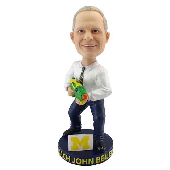 University of Michigan Basketball John Beilein Squirt Gun Bobblehead