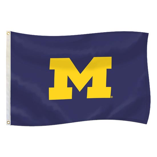 UBF University of Michigan Navy 3x5 Block M Flag