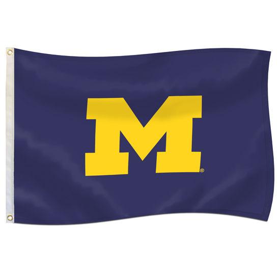 UBF University of Michigan Navy 4x6 Block M Flag