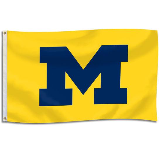 UBF University of Michigan Yellow 3x5 Block M Flag