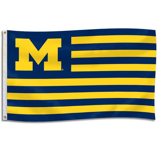 UBF University of Michigan Striped 3 x 5 Spirit Flag
