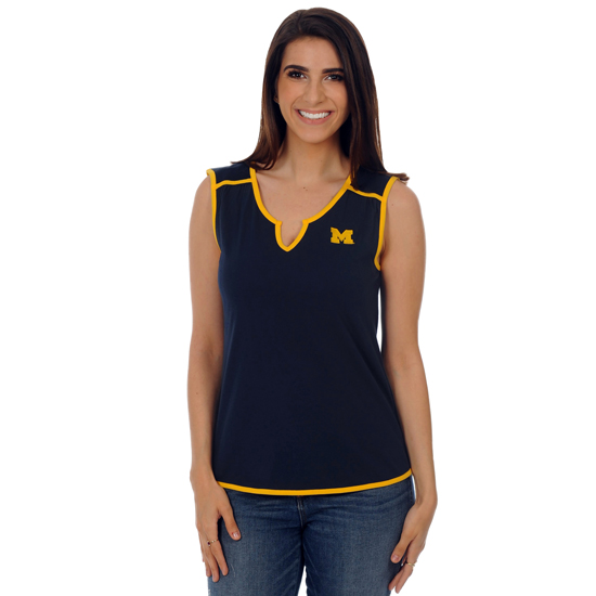 UG Apparel University of Michigan Women's Navy Game Day Tunic Tank Top