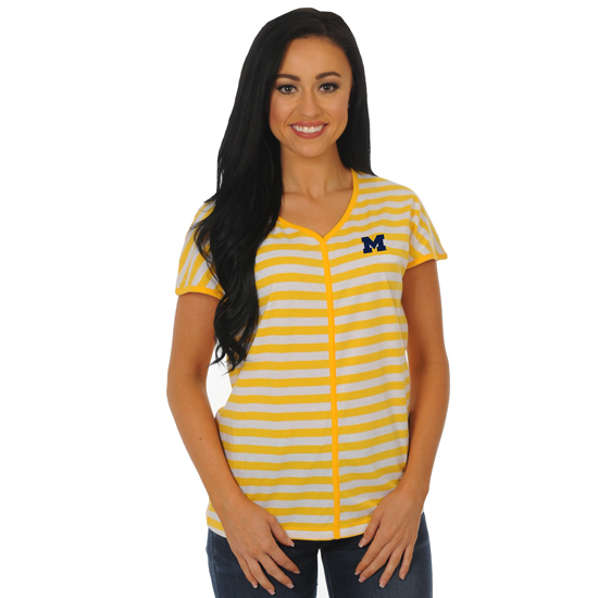UG Apparel University of Michigan Women's Striped Dolman Tee