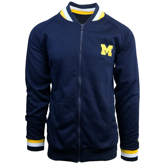 Valiant University of Michigan Navy Track Jacket