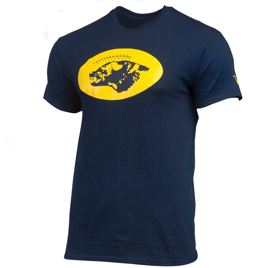 Valiant University of Michigan Football Navy Helmet Sticker Tee