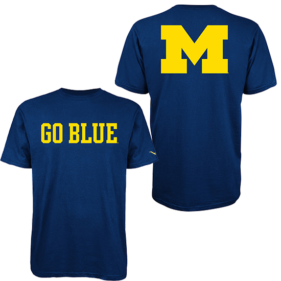 Valiant University of Michigan Navy ''Go Blue'' Tee