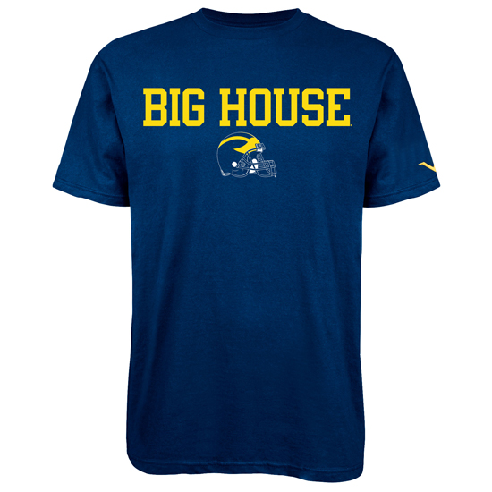 Valiant University of Michigan Football Navy ''Big House'' Tee