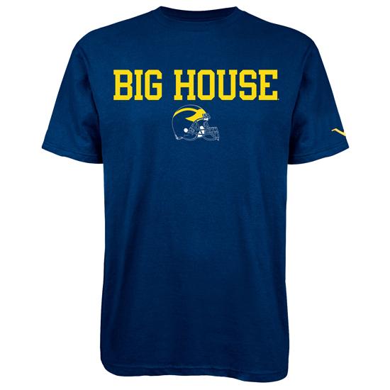 Valiant University of Michigan Football Navy ''Big House'' Tee