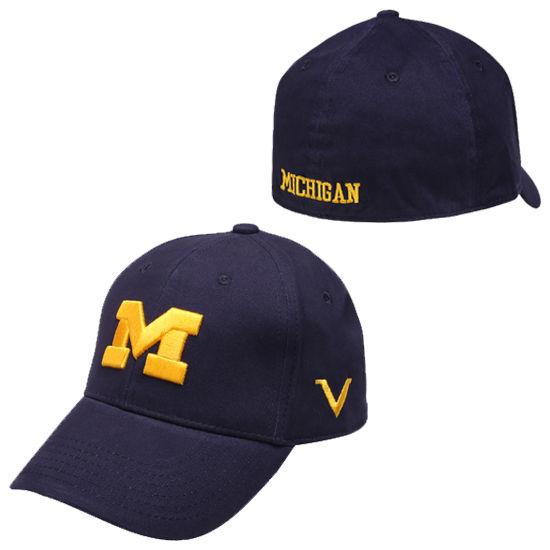 Valiant University of Michigan Navy Flex Fit Hat