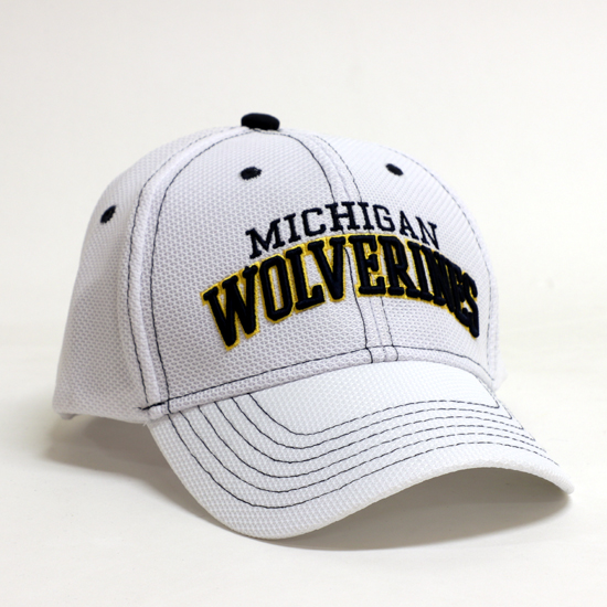 Valiant University of Michigan White ''Wolverines'' Structured Hat