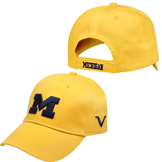 Valiant University of Michigan Yellow Structured Hat