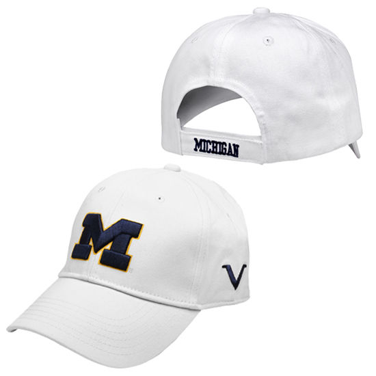 Valiant University of Michigan White Structured Hat