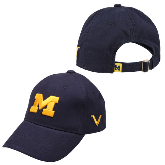 Valiant University of Michigan Navy Block M Slouch Hat