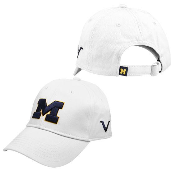Valiant University of Michigan White Block M Slouch Hat
