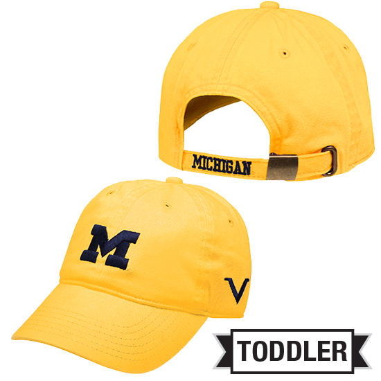 Valiant University of Michigan Toddler Yellow Block ''M'' Slouch Hat