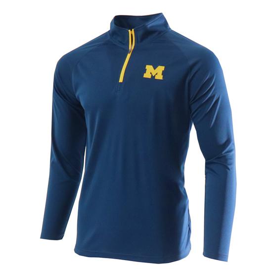 Valiant University of Michigan Navy 1/4 Zip Pullover