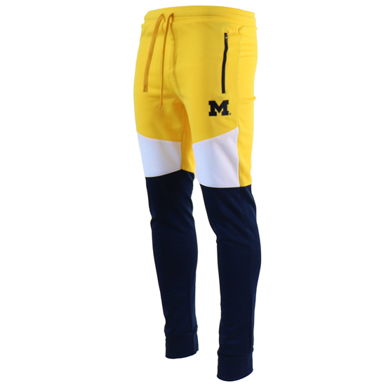 Valiant University of Michigan Color Block Jogger Pants