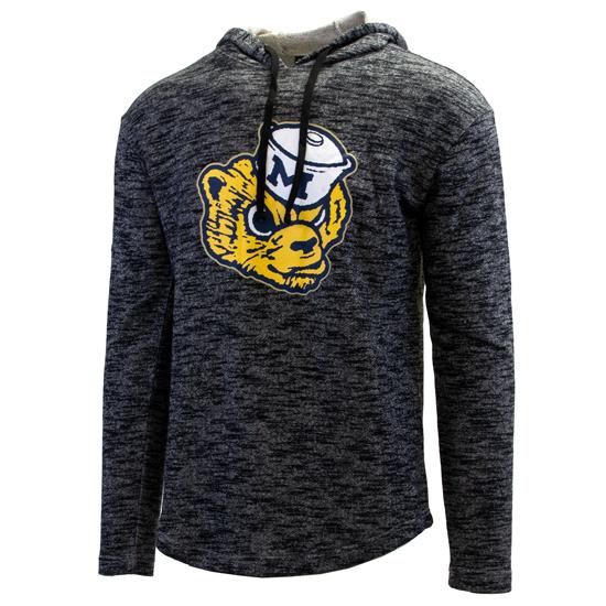 Valiant University of Michigan Heather Charcoal Gray College Vault Wolverine Slub Hooded Sweatshirt