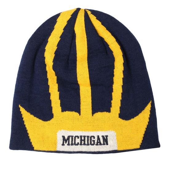Valiant University of Michigan Football Helmet Knit Beanie Hat