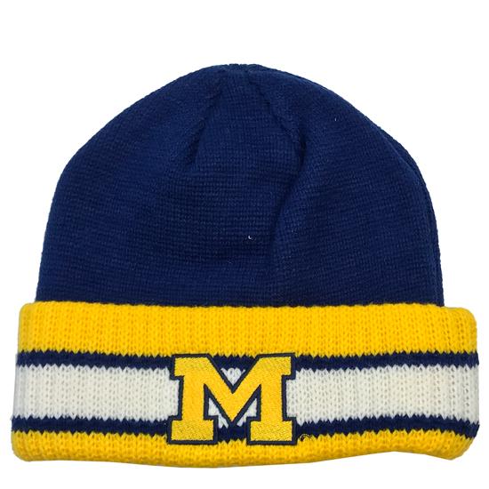 Valiant University of Michigan Captains Cuffed Knit Hat