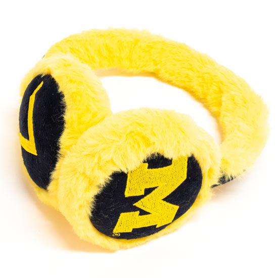 Valiant University of Michigan Women's Navy/Yellow Suede Earmuffs