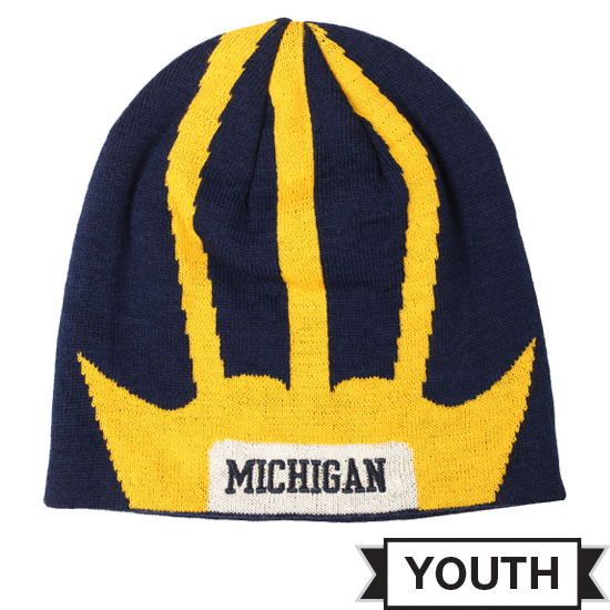 Valiant University of Michigan Football Youth Helmet Knit Hat