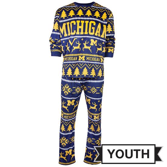 Valiant University of Michigan Youth Holiday Pajamas