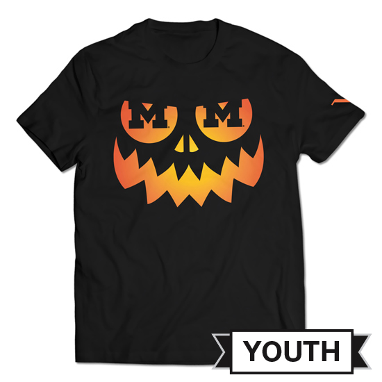 Valiant University of Michigan Youth Black Jack-O'-Lantern Tee