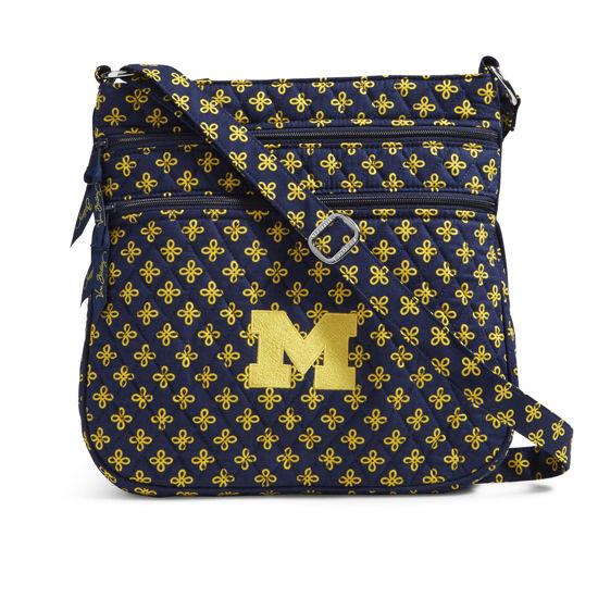 bec465832114c9 Vera Bradley University of Michigan Triple Zip Hipster Crossbody Bag.  Product Thumbnail Product Thumbnail Product Thumbnail
