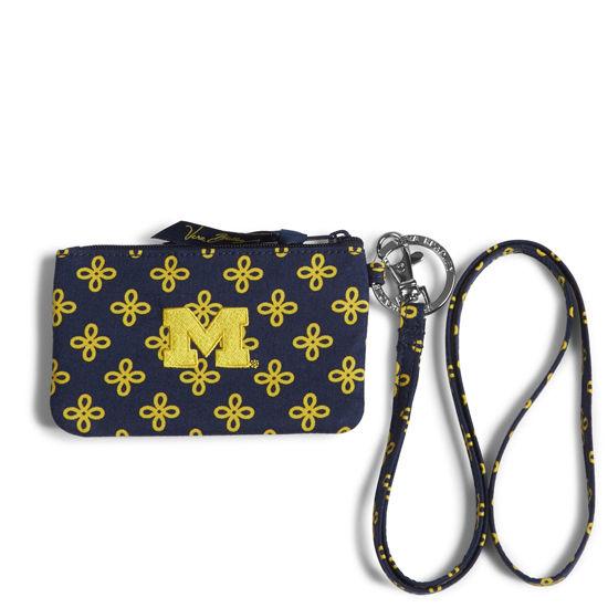 Vera Bradley University of Michigan Zip ID Wallet Lanyard