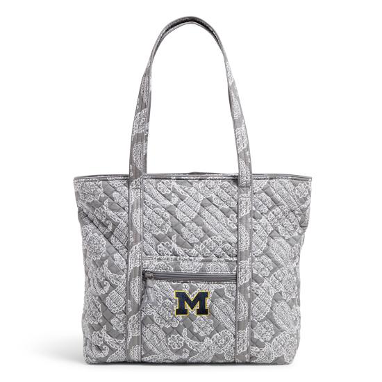Vera Bradley University of Michigan Gray/White Bandana Iconic Tote Bag