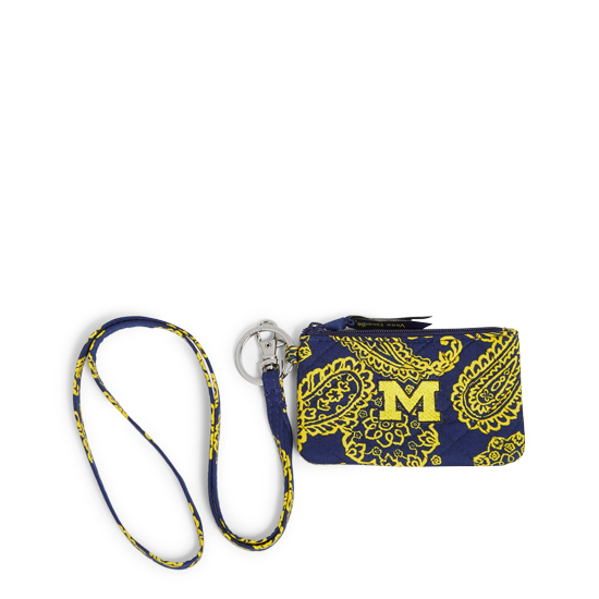 Vera Bradley University of Michigan Iconic Zip ID Case and Lanyard