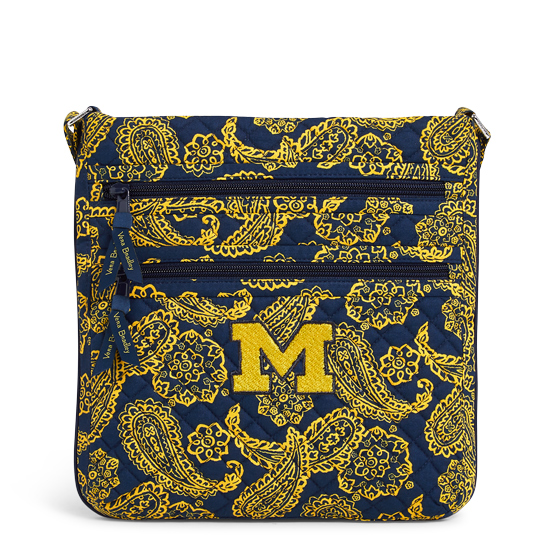 Vera Bradley University of Michigan Iconic Triple Zip Crossbody Hipster Bag