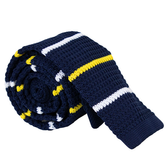 Campus Specialties University of Michigan Navy Square Knit Tie