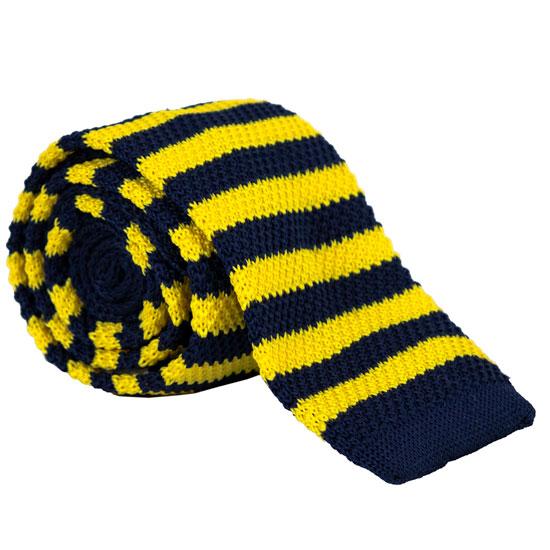 Campus Specialties University of Michigan Striped Square Knit Tie