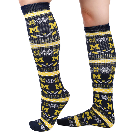Valiant University of Michigan Ugly Holiday Knee High Sock