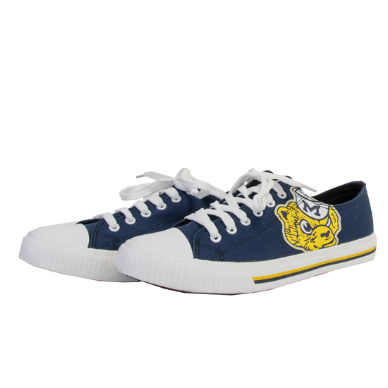 Forever Collectibles University of Michigan College Vault Wolverine Canvas Low-Top Sneaker