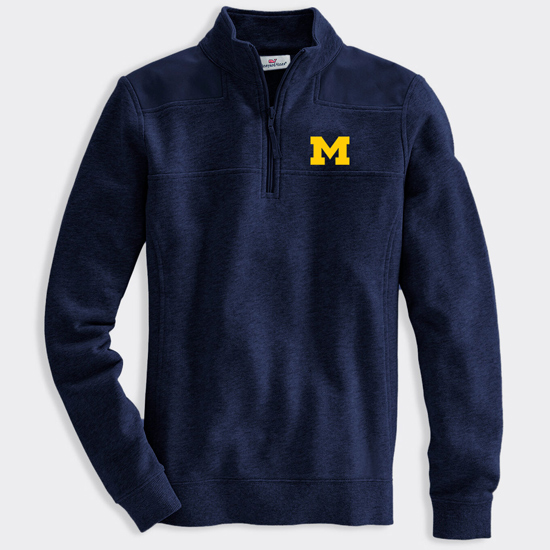 Vineyard Vines University Of Michigan Women S Navy 1 4 Zip