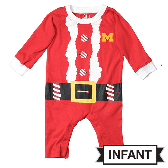Wes & Willy University of Michigan Infant Elf Romper
