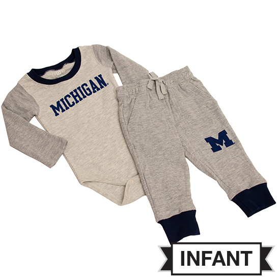 Wes & Willy University of Michigan Infant Hopper Set