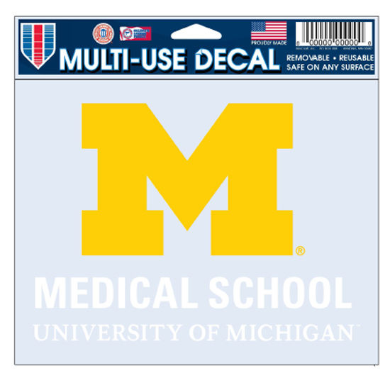 WinCraft University of Michigan Medical School Decal