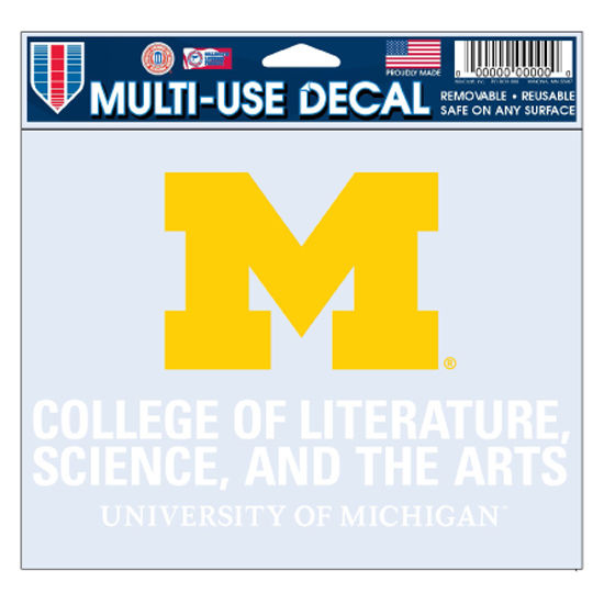 WinCraft University of Michigan L, S, & A Decal