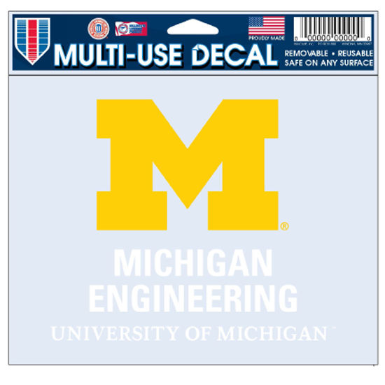 WinCraft University of Michigan College of Engineering Decal
