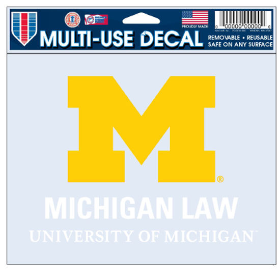 WinCraft University of Michigan Law School Decal