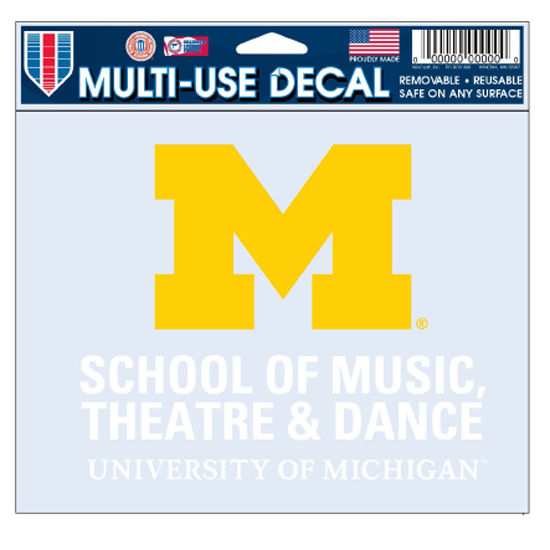 WinCraft University of Michigan School of Music, Theatrr and Dance Decal