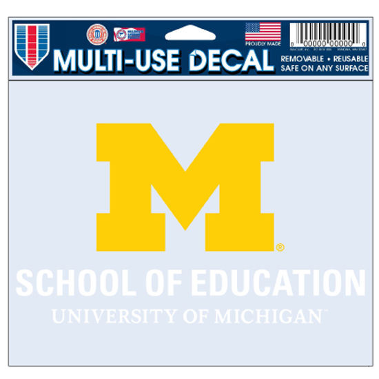 WinCraft University of Michigan School of Education Decal