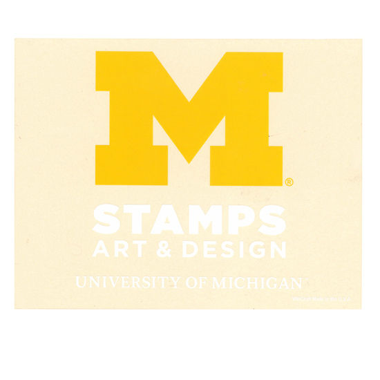 WinCraft University of Michigan STAMPS School of Art & Design Decal